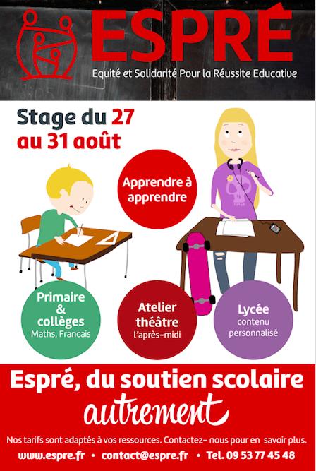 Stage ESPRE du 27 au 31 Aout !